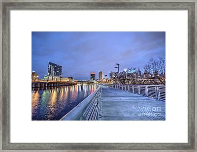 Philly Skyline - Colors Of The Riverwalk Framed Print