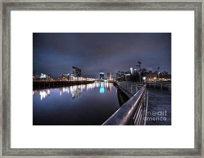 Philly Skyline - The Riverwalk Framed Print by Mark Ayzenberg