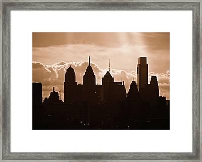 Philly Skyline Framed Print