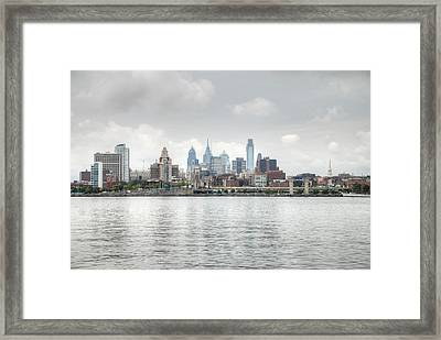 Philly Skyline Framed Print by Jennifer Ancker