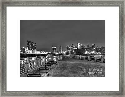 Philly Skyline Riverwalk Framed Print