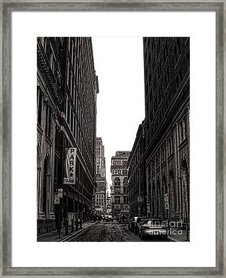Philly Street Framed Print by Olivier Le Queinec