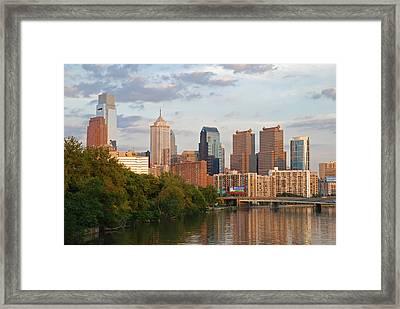 Philly Summer Skyline Framed Print by Jennifer Ancker