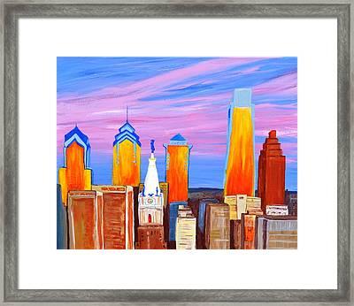 Philly Sunrise Framed Print by Jennifer Virgin
