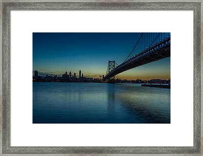 Philly Sunset Framed Print by David Hahn