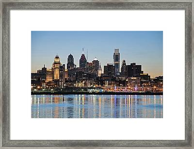 Philly Sunset Framed Print