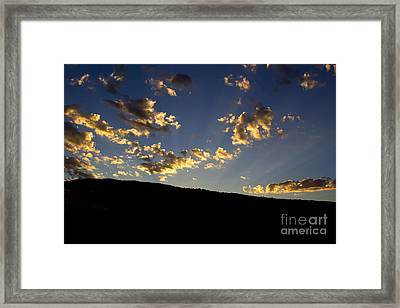 Philmont Sunset Framed Print by Sheldon Perry