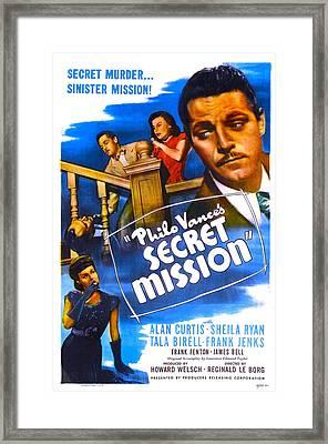 Philo Vances Secret Mission, Us Poster Framed Print