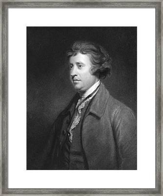 Philosopher Edmund Burke Framed Print