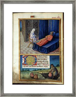 Philosophy And Boethius Framed Print by British Library