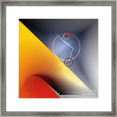Philosophy Of Time Framed Print by Leo Symon