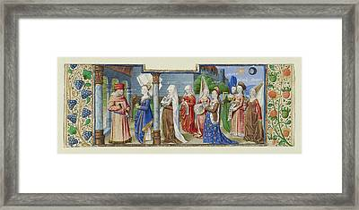 Philosophy Presenting The Seven Liberal Arts To Boethius Framed Print
