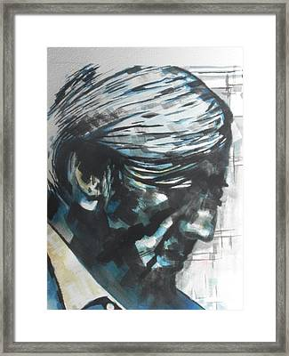Philospher Jiddu Krishnamurti Framed Print by Chrisann Ellis