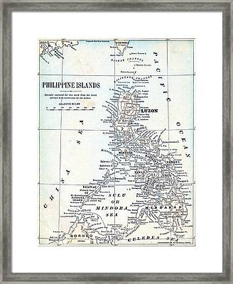 Philppine Islands - 1899 Framed Print by Pg Reproductions