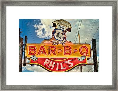 Phils Barbeque Framed Print