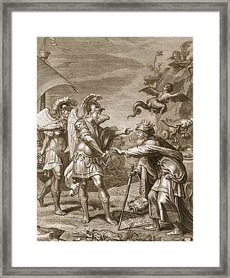 Phineus Is Delivered From The Harpies Framed Print