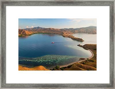 Phinisi Schooner Brings Divers Framed Print by Jaynes Gallery