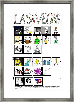 Phish  11.01.14 Las Vegas Night II Framed Print