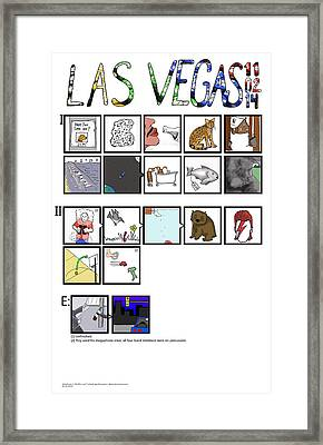 Phish 11.02.14 Las Vegas Night IIi Framed Print