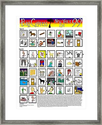 Phish Big Cypress Nye 99 Illustrated Setlist Framed Print