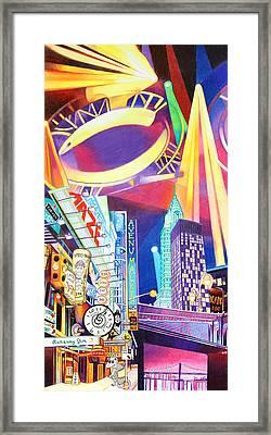 Phish New Years In New York Left Panel Framed Print by Joshua Morton