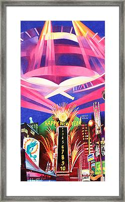 Phish New Years In New York Middle Framed Print by Joshua Morton