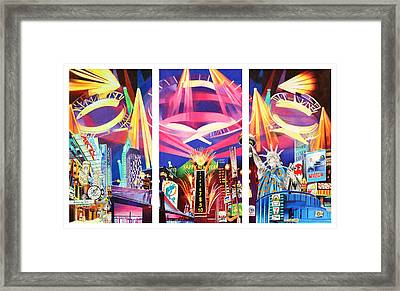 Phish New York For New Years Triptych Framed Print
