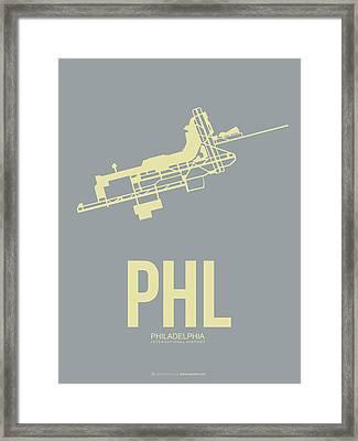 Phl Philadelphia Airport Poster 1 Framed Print