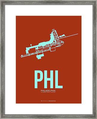 Phl Philadelphia Airport Poster 2 Framed Print by Naxart Studio