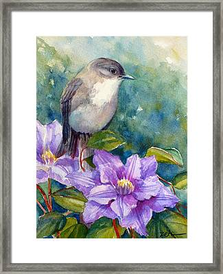 Phoebe And Clematis Framed Print