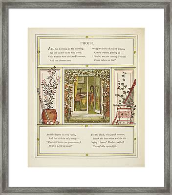 Phoebe Framed Print by British Library
