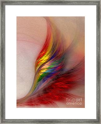 Phoenix-abstract Art Framed Print by Karin Kuhlmann