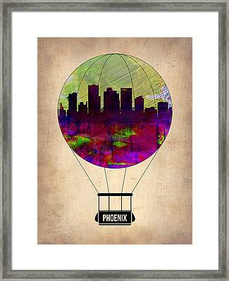 Phoenix Air Balloon  Framed Print by Naxart Studio