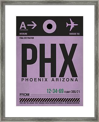 Phoenix Airport Poster 1 Framed Print by Naxart Studio