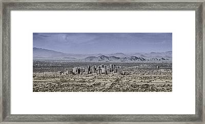 Phoenix Arizona Panorama Framed Print