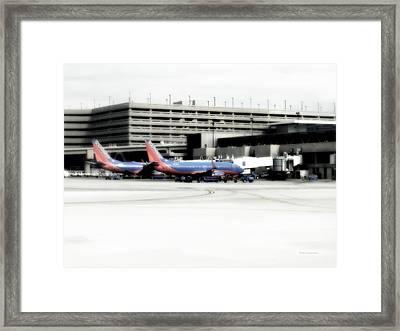 Phoenix Az Southwest Planes Framed Print