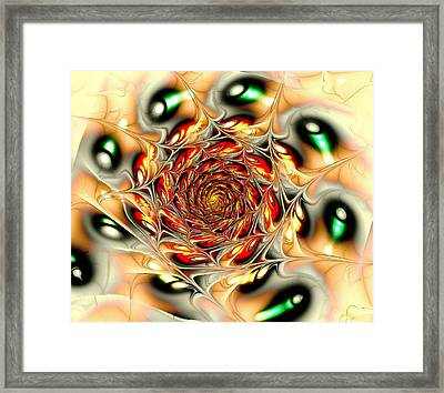 Phoenix Feather Framed Print