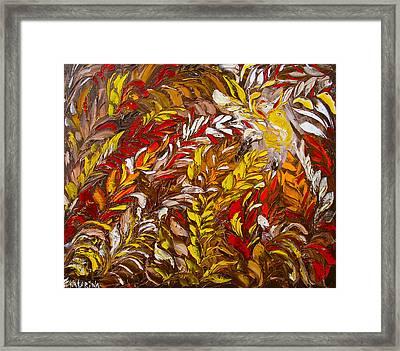 Phoenix Flower Painting Framed Print