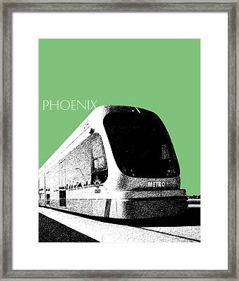Phoenix Light Rail - Apple Framed Print by DB Artist