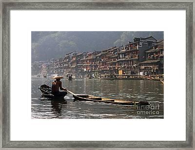 Phoenix Old Town In Zhangjiajie Framed Print by Lars Ruecker