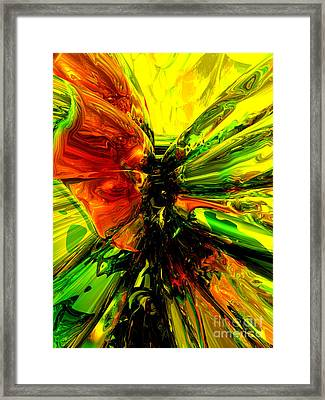 Phoenix Rising Abstract Framed Print by Alexander Butler