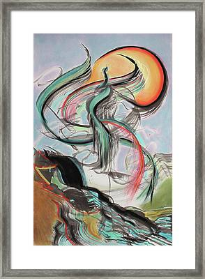 Phoenix Rising Framed Print by Asha Carolyn Young