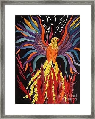 Phoenix Rising Framed Print by Ellen Levinson