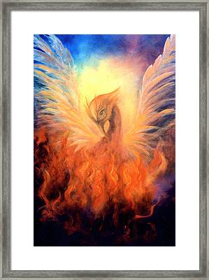 Framed Print featuring the painting Phoenix Rising by Marina Petro
