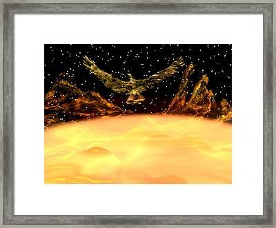 Phoenix Rising Framed Print by Michele Wilson
