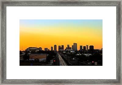 Phoenix Skyline Framed Print by Kelly Gibson