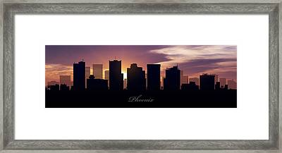 Phoenix Sunset Framed Print by Aged Pixel