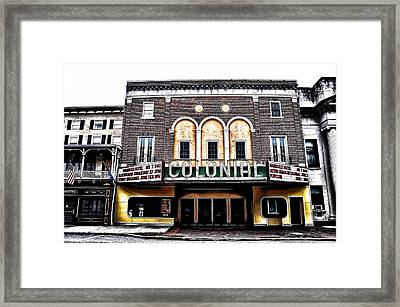 Phoenixville's Colonial Theater Framed Print by Bill Cannon