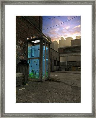 Phone Booth Framed Print by Cynthia Decker