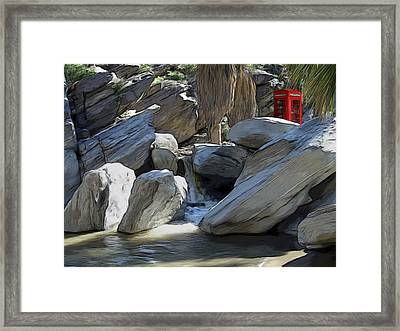 Phone Booth Framed Print by Snake Jagger